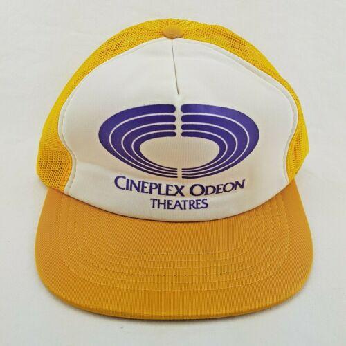 Vintage Cineplex Odeon Theatres Movie Promo Trucker Hat Cap Snapback H444