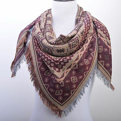 New Women's Elegant Pashmina Shawl Wrap Scarf Double Layer Scarf Best Gift