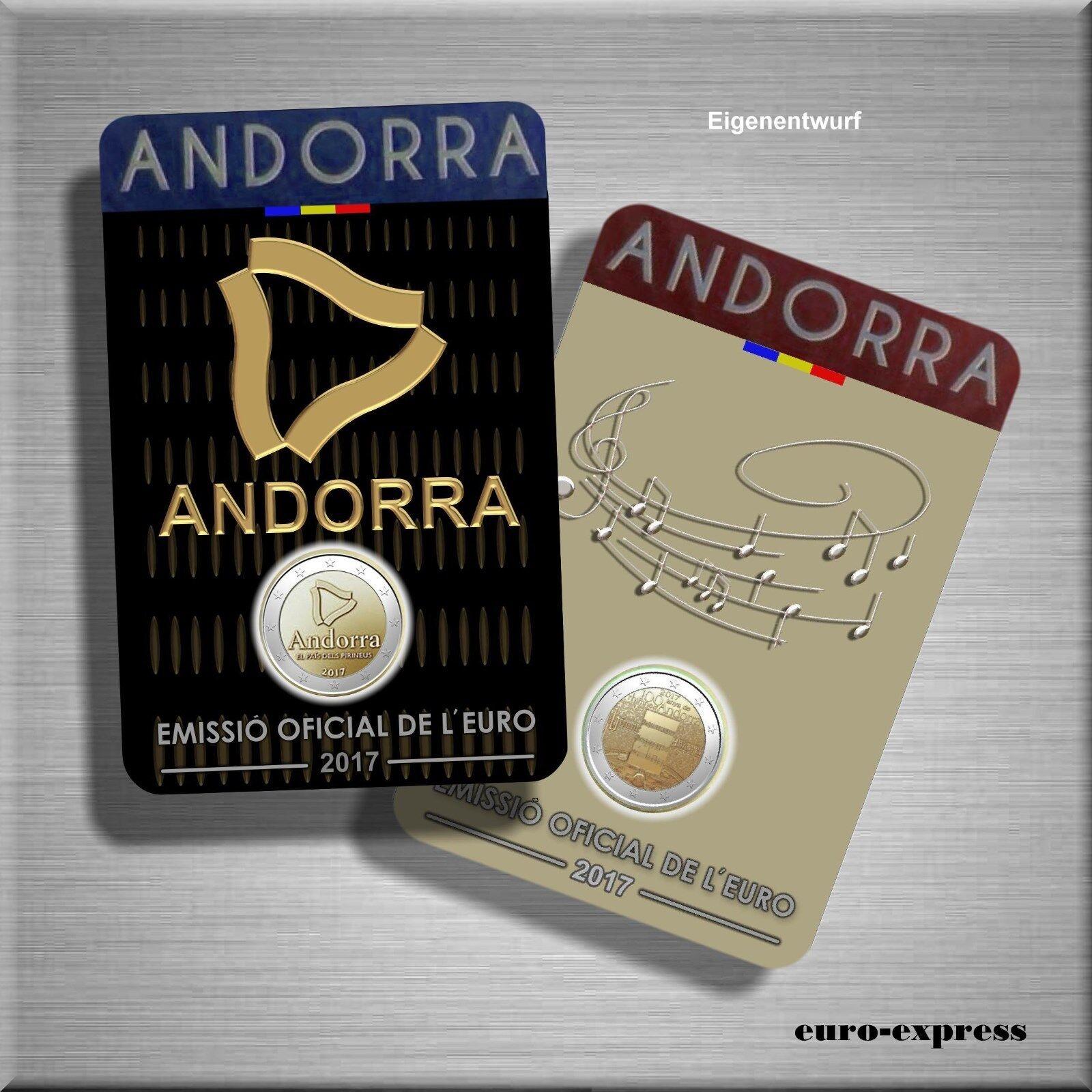 2 x 2 Euro Gedenkmünze Andorra 2017 BU