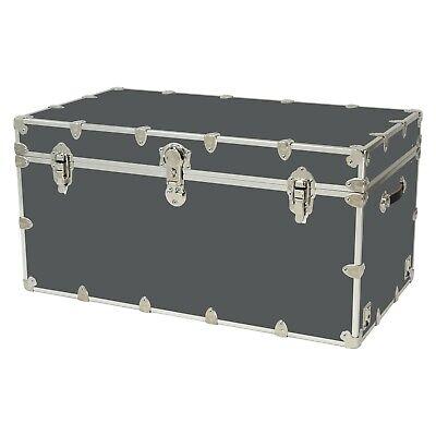 Rhino Storage Trunk Footlocker 40x22x20for Camp, College & Dorm. USA Made College Footlocker Trunk