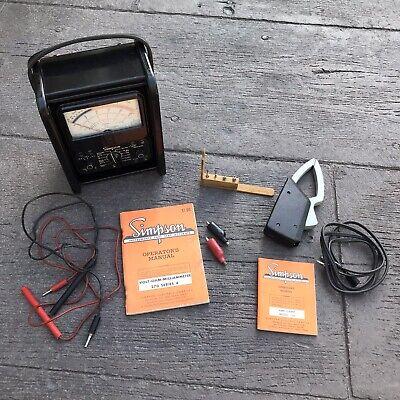Simpson 270 Series 4 Volt-ohm-milliammeter Meter Simpson Amp Clamp Model 150