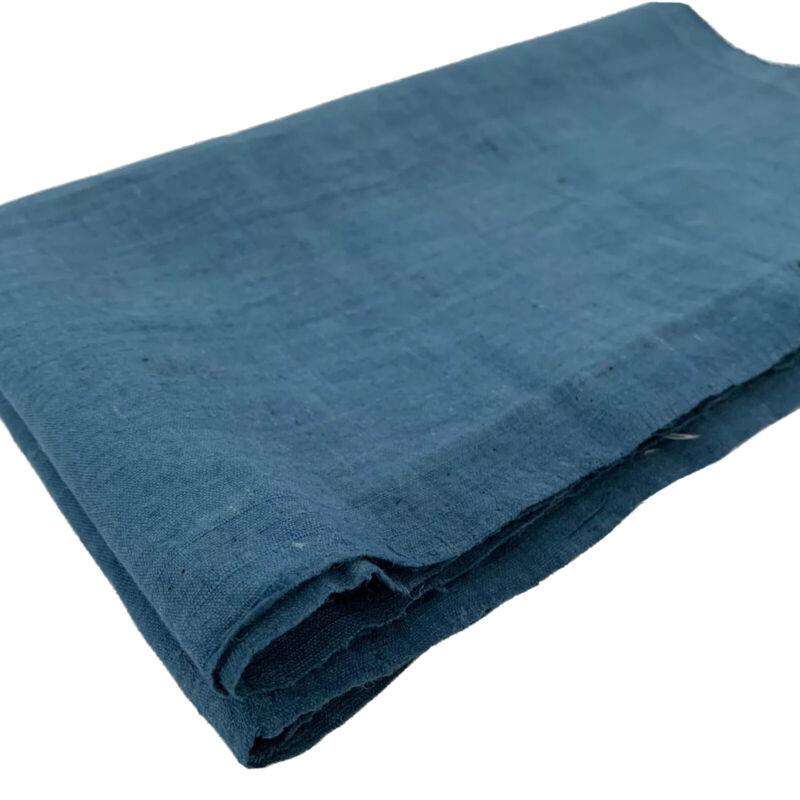 Japan Vintage Kimono Cobalt Blue Fabric Cloth Boro COFU 48.4 x 13.4 inches