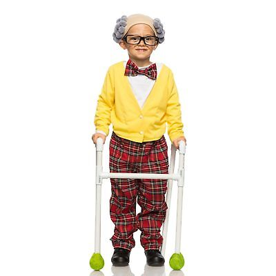 Cute Funny Boys Grandpa Costume Halloween Up Family Toddler Child 4T XS S