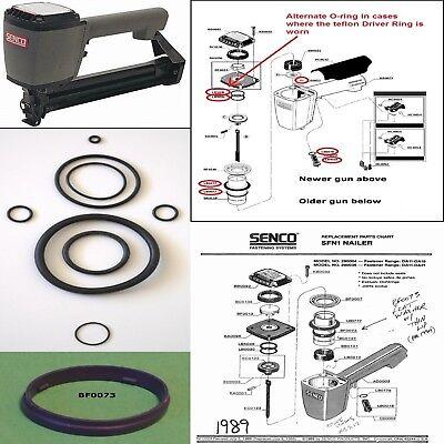 Senco Finish Nailer SKS SFN1 O-ring Repair Kit + Part BF0073 All Parts Brand New Parts Repair Part