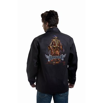 Tillman 9061 Back Bone Of America Black Onyx Welding Jacket - L