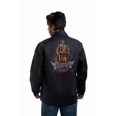 Tillman 9061 Back Bone Of America Black Onyx Welding Jacket - L