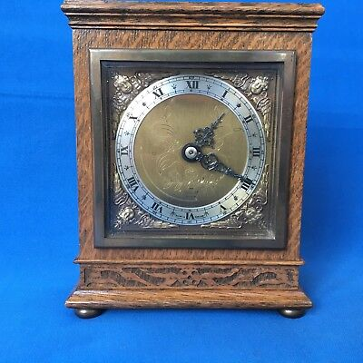 Elliot oak cased mantel clock in excellent condition made in England for sale  Shipping to Ireland