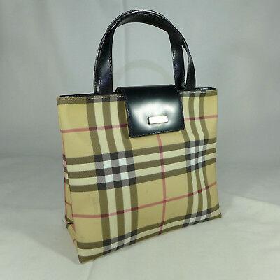 Check Small Tote - Authentic Rare Vintage Burberry Nova Check Small Tote Handbag Purse