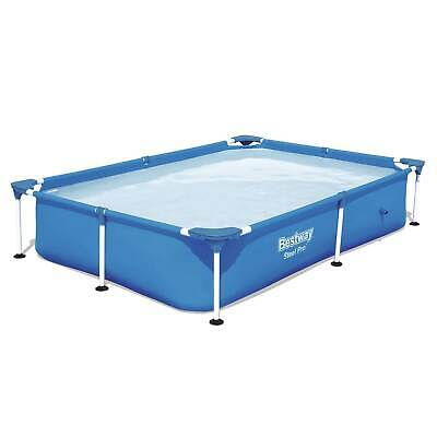 "Bestway Steel Pro 87x59x17"" Rectangular Frame Above Ground Swimming Pool (Used)"