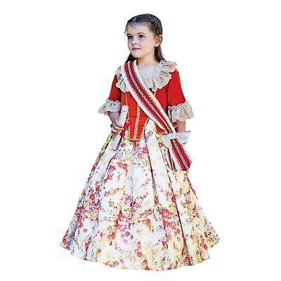 Kinder Mädchen Blumenmuster Märchen Gräfin Königin Kleid Buchwoche Verkleidung