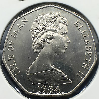 1984 T.T. Standard Finish 50p Coin with AA die letters