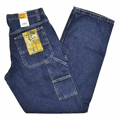 Lee Dungarees Carpenter Fit Mens Jeans Denim Jean Original Stone Medium Blue - Lee Dungarees Carpenter Jeans