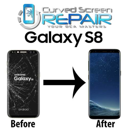 Samsung Galaxy S8 Cracked Screen Repair Glass Replacement Mail In Service