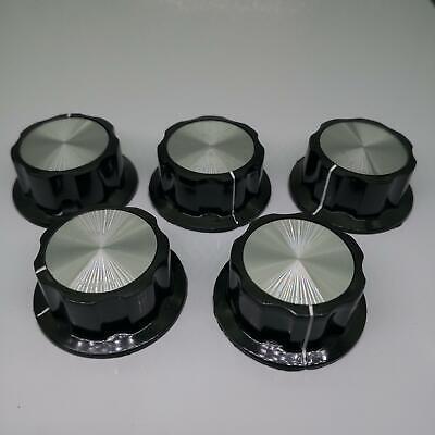US Stock 5pcs Plastic Control Round Srew Type Pot Potentiometer Knob 20mm x 45mm