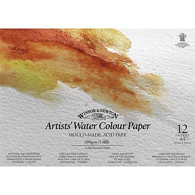 Winsor & Newton Artists Watercolour Gummed Paper Pad A4 | 140lb / 300gsm