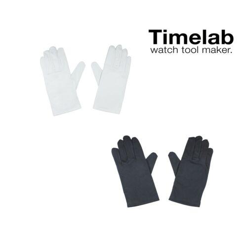 Timelab Microfiber Watch Jewelry Handling Inspection Polish Presentation Glove