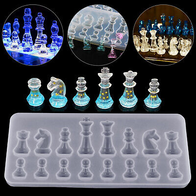 DIY Silicone Resin Chess Mold Jewelry Pendant Making Tool Mould Craft Handmade