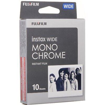 Fujifilm Instax Wide Monochrome Black & White Film, 10 Exposures for 300, 210