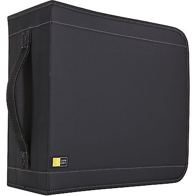 Case Logic CDW-320 336 Capacity CD Wallet -Book Fold -Nylon - 336 CD/DVD - Black Cd Wallet Book Fold Nylon