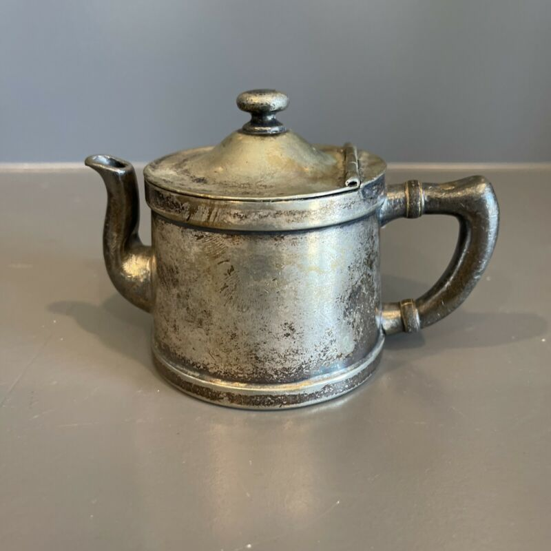 Vintage Benedict Indestructo Silverplated Mini Teapot 1354 Made in USA