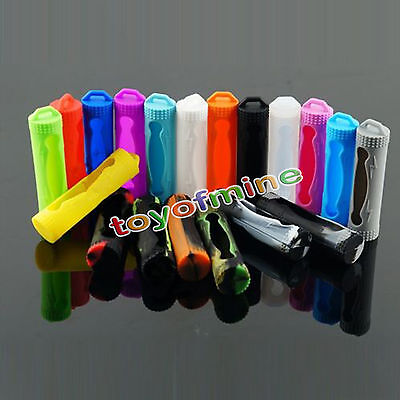 Protective silicone sleeve Cover Case For 18650 battery Protective Bag Pouch