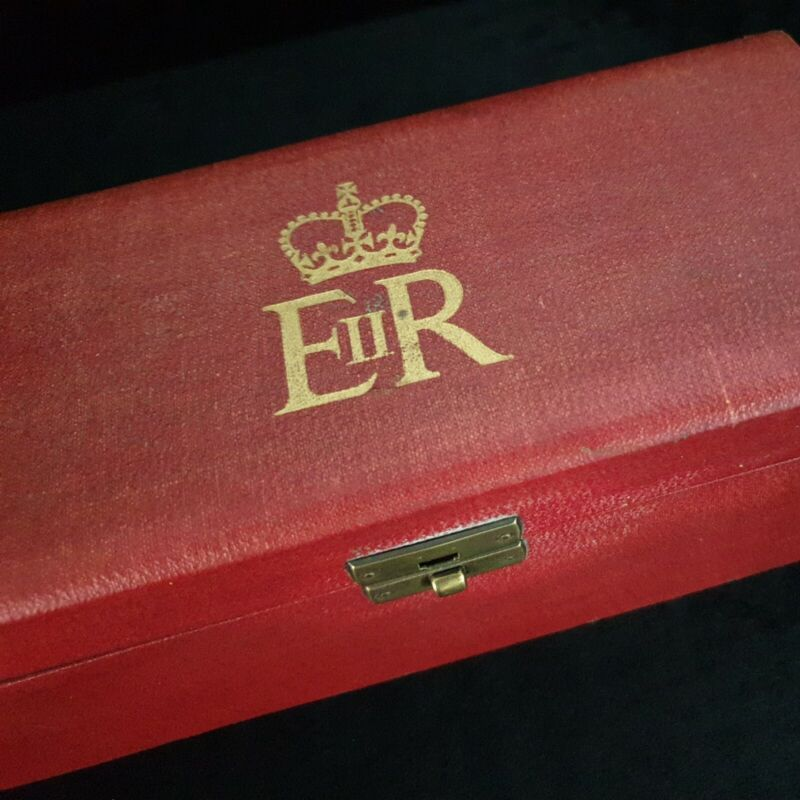 Rare Royal Queen Elizabeth II Document Box Crown Cypher ERII Grant Arms Nobility