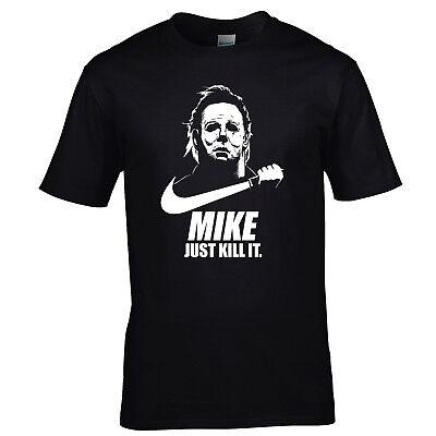 Mike Myers T-Shirt Parodie Just Do It Lustig Neu Halloween Serienmörder S-XXL