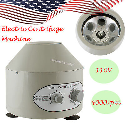 Electric Lab Centrifuge Machine Used To Separate Suspension Of Solid Particles