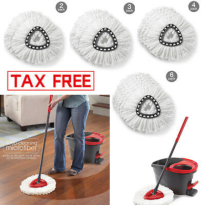 Replacement Cleaning Head - Mopping O-Cedar Easy Cleaning Wring Spin Mop Refill Mop REPLACEMENT HEAD 1- 6 pc