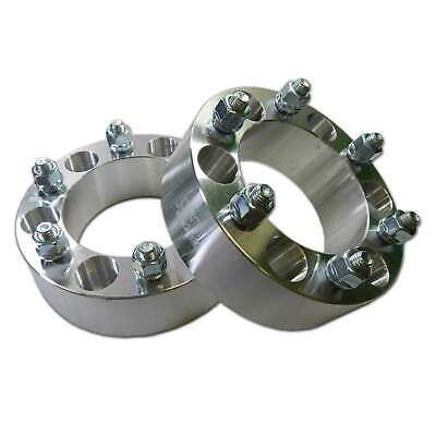 """Pair 6x5.5 139.7 Wheel Spacers 2"""" Thick 12mm Lug Fit 4Runner Tacoma Colorado H3"""