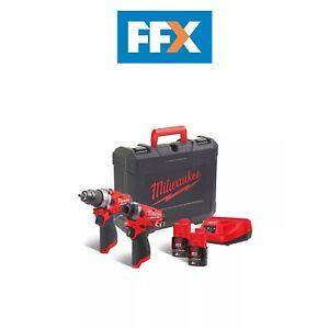 Milwaukee 4933471088 12v M12 FUEL 2x2Ah Li-ion Twin Kit
