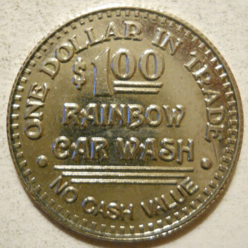 Rainbow Car Wash (Sunnyvale, California) token - CA8995A