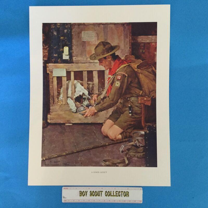 "Boy Scout Norman Rockwell Print 11""x14"" A Good Scout"