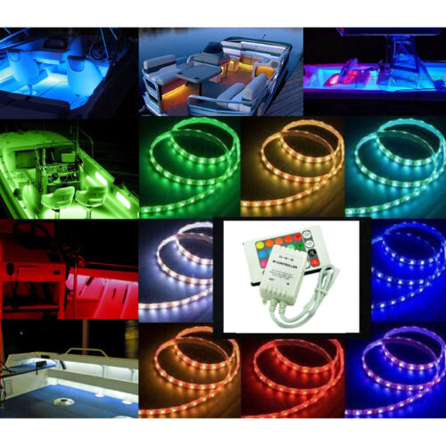 12V LED RGB Color Changing Marine Party Ski Boat Boating Yacht Light Bulb Strip