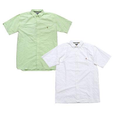 Big Pony Oxford (Ralph Lauren Mens Big And Tall Oxford Shirt Short Sleeve Buttondown Pony Logo Rl)