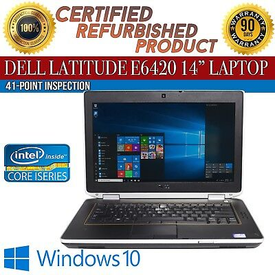 "C Grade Dell Latitude E6420 14"" Intel i5 8 GB RAM 250 GB HDD Win 10 WiFi Laptop"