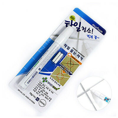 MUNHWA Tile Reform Coating Grout Tiling Marker Pen Cover Kit White Clean Floor