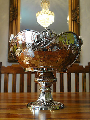 Luxus Obstschale Prunkschale Weinkühler Sekt Schale Silber Jugendstil Antik Edel