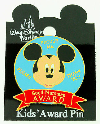 DISNEY MICKEY MOUSE  GOOD MANNERS AWARD TAC PIN   trading pin