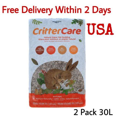 2PCS Crittercare Guinea Pig Hamster Pet Paper Bedding Mouse Rabbit Soft 30L USA