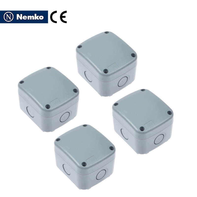 4x Waterproof Junction Box Wire Cable Case Connector Weatherproof Dustproof ABS