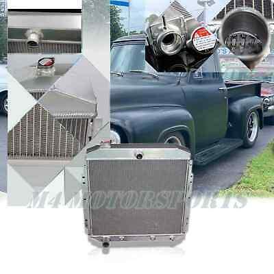 3ROW ALUMINUM RADIATOR 1953 1954 1955 1956 FORD PICKUP TRUCK F350 F250 F100 5356