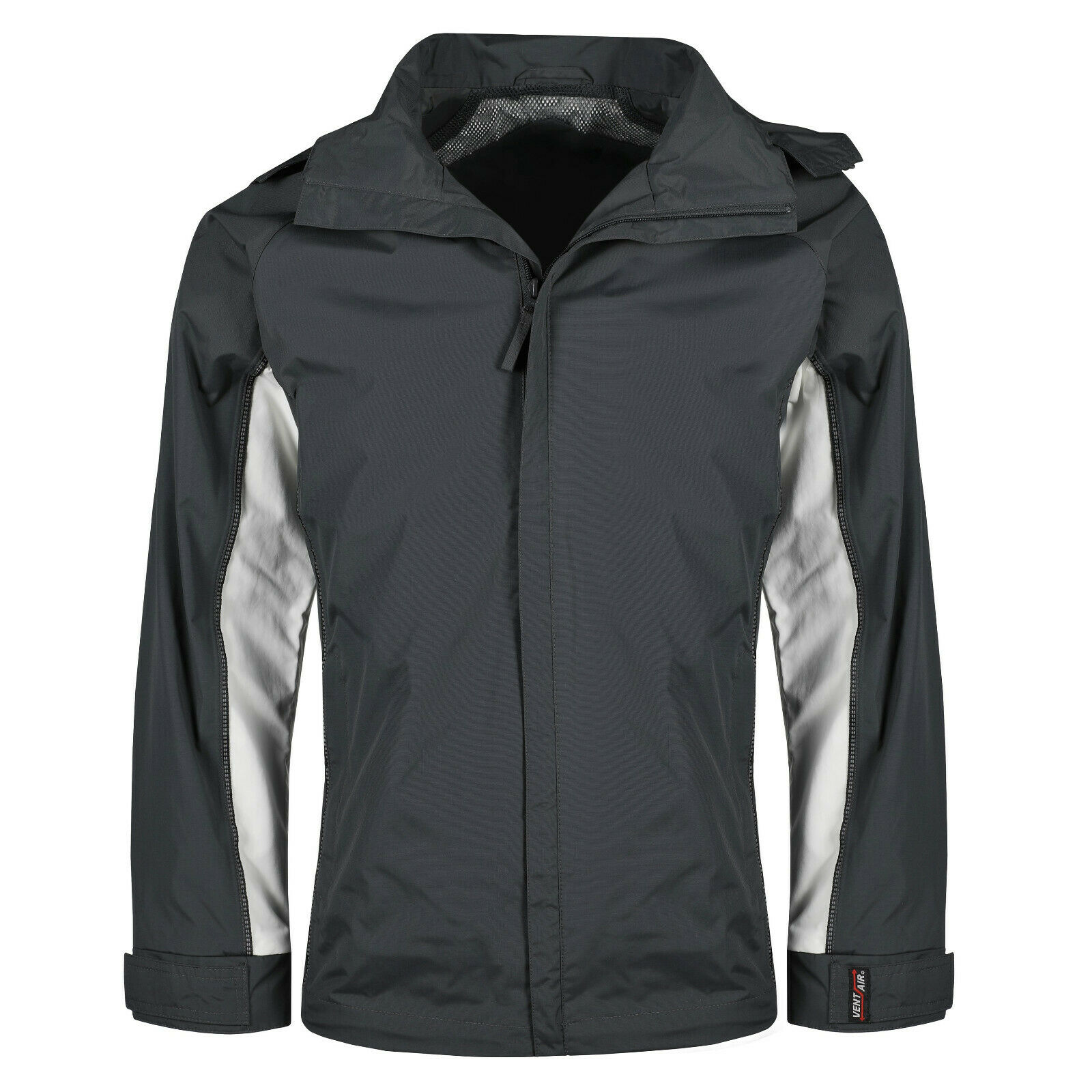 New Mens Raincoat Waterproof Windproof Vent Air Hooded Breathable Outdoor Jacket
