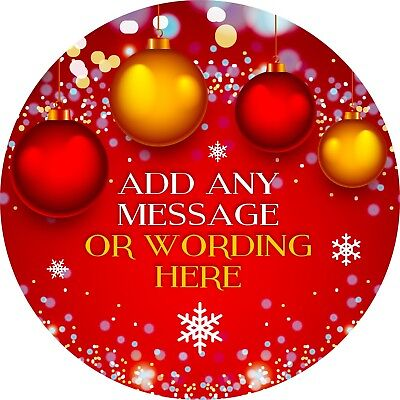 Christmas Baubles Elegant Sticker Labels for Party Bag Sweet Cones](Christmas Bags For Sweets)