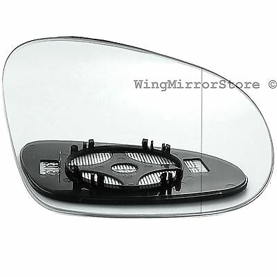 Right Driver side clip on heated wing door mirror glass for VW Passat B6 2005 10