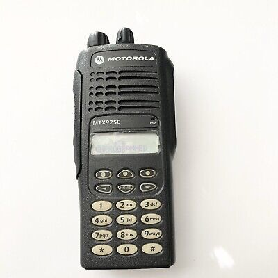 Clean Motorola Mtx9250 Aah25wch4gb6an Two Way Radio Only