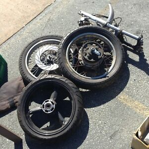1979 Honda CB wheel set and suspension forks