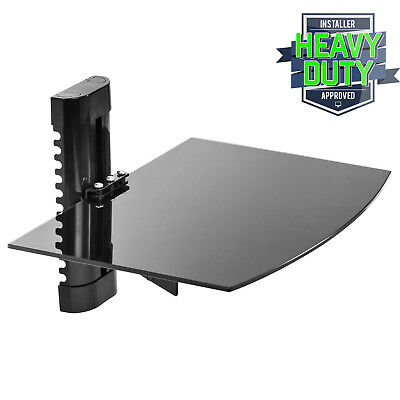 Floating Wall Mount Shelf AV DVD Component Console Glass Stand