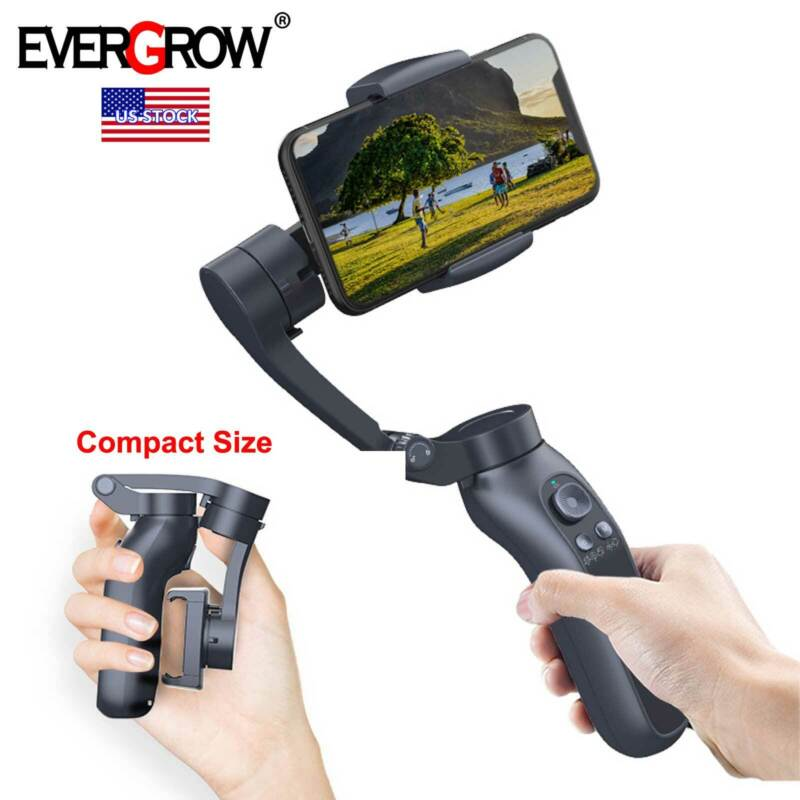 2021 EverGrow 3-Axis Gimbal Stabilizer for iPhone 12 11 Pro Xs Max Xr X 8 Plus 7