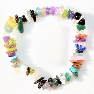 CHARGED Premium Every Crystal Chip Stretchy Bracelet (40+ Crystal Types) REIKI!